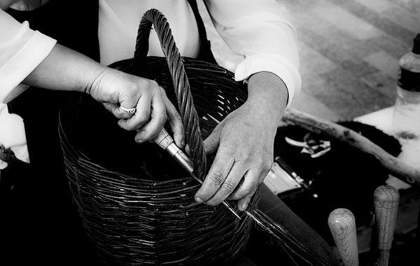 Irish contemporary willow baskets